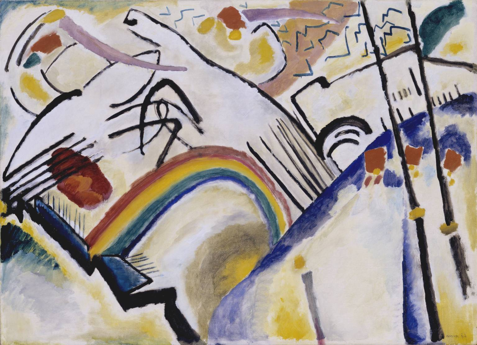 Cossacks 1910-11 by Wassily Kandinsky 1866-1944